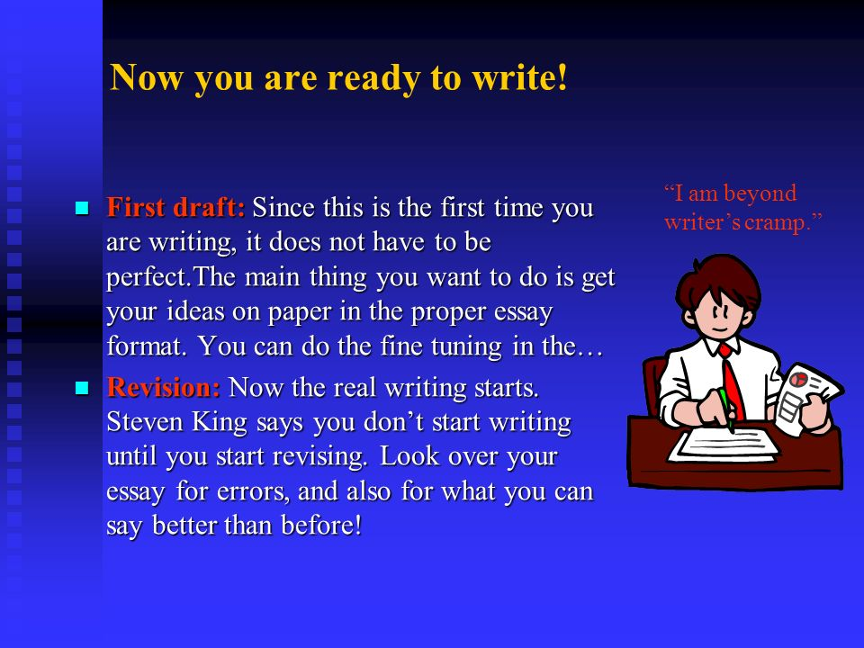 Now you are ready to write!