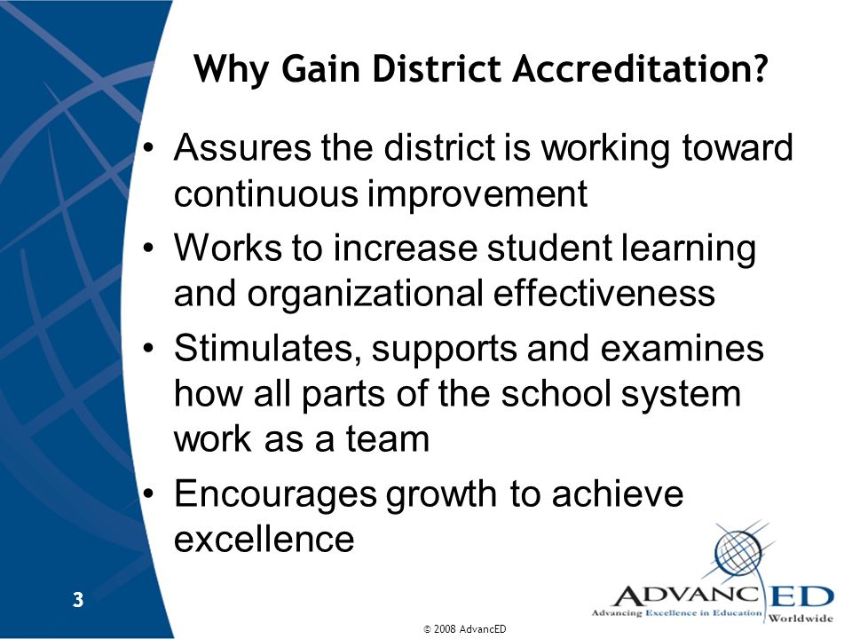 Why Gain District Accreditation