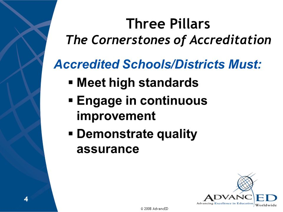 Three Pillars The Cornerstones of Accreditation
