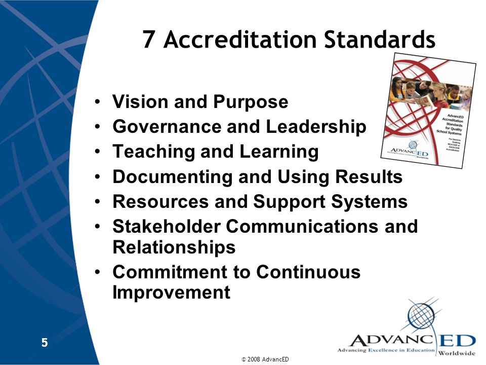 7 Accreditation Standards