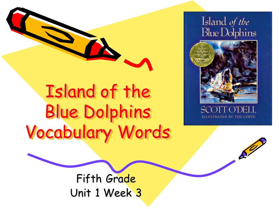 island of the blue dolphins by scott o dell ppt island of the blue dolphins vocabulary words