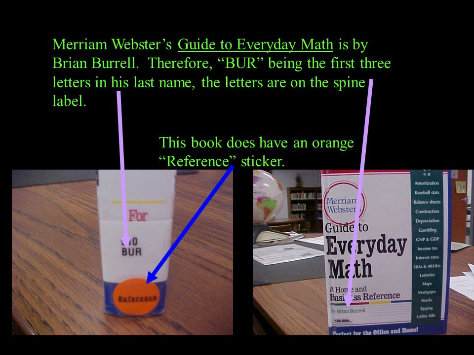 Merriam Webster's Guide to Everyday Math is by Brian Burrell