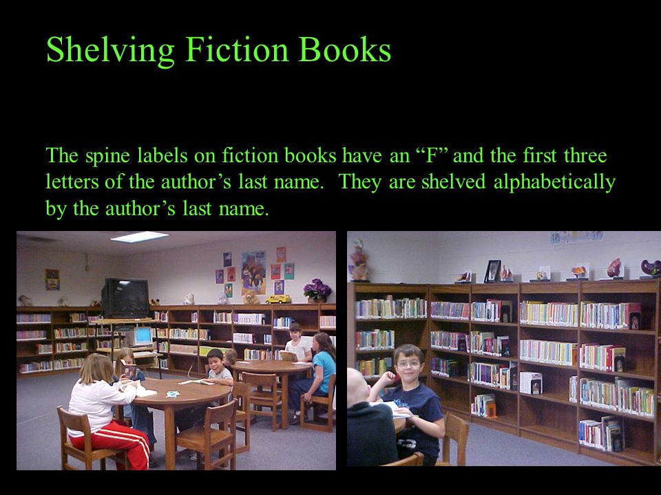 Shelving Fiction Books