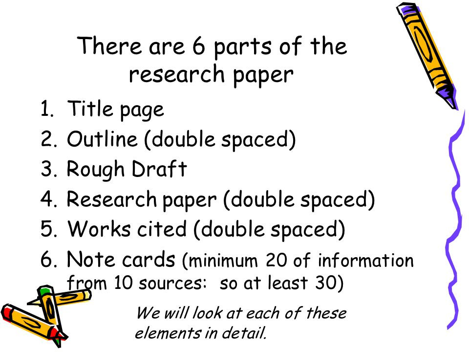 Purchase research paper parts