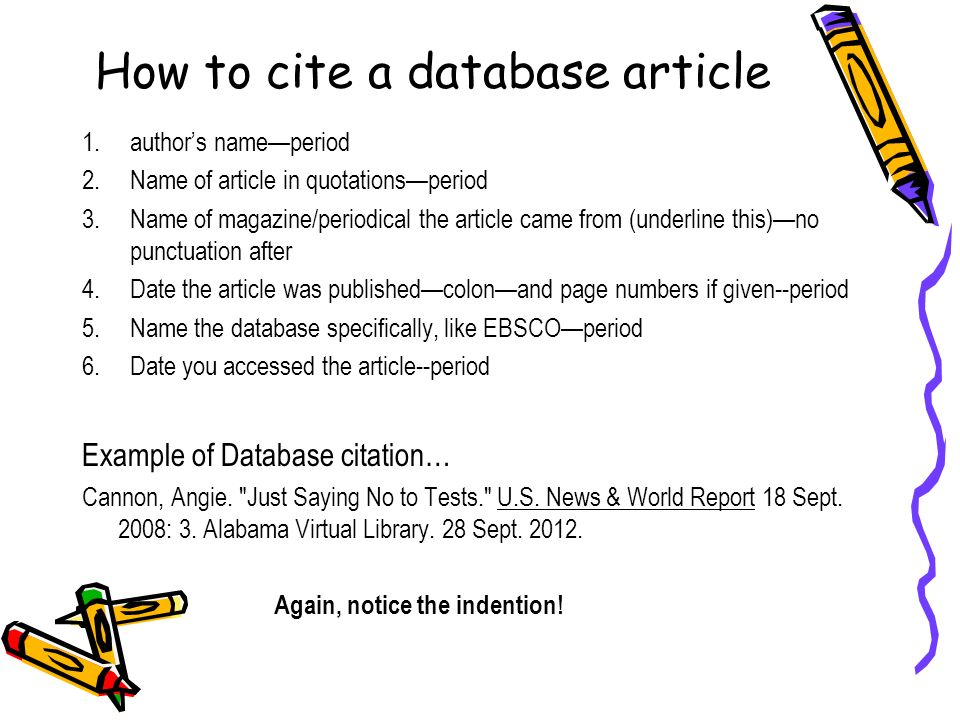 Cite database research paper