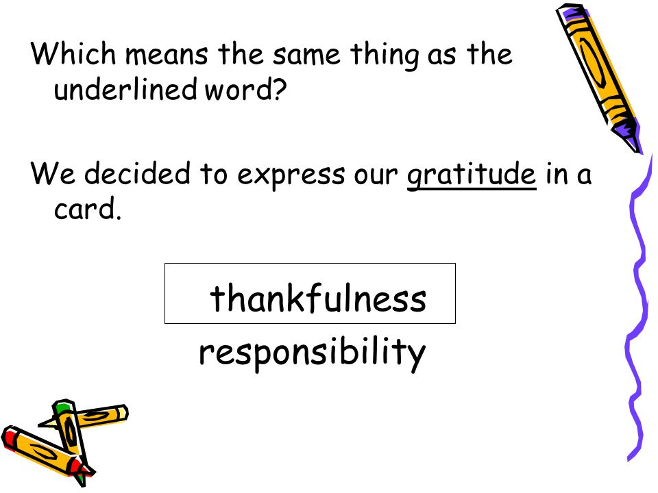 thankfulness responsibility