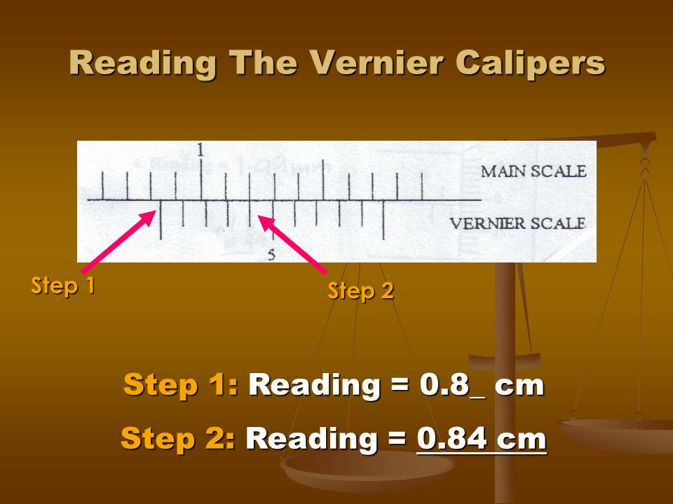 Reading The Vernier Calipers