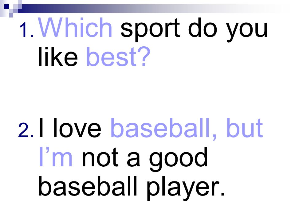 Which sport do you like best
