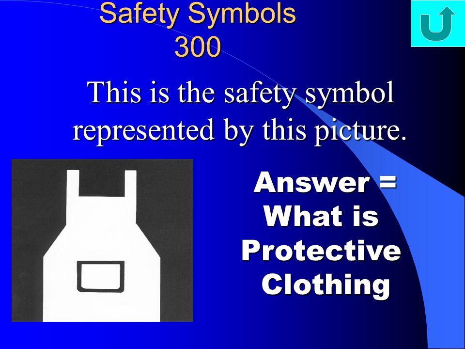 Clothing Safety Symbol