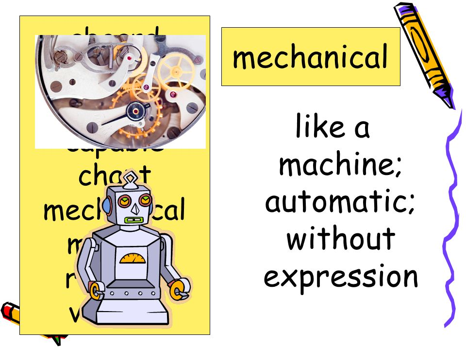 like a machine; automatic; without expression