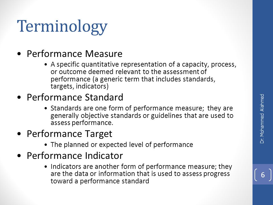 multiple performance measurement standards Control mechanisms and performance measurement standards a) control mechanisms control mechanisms can be defined as optical, mechanical, or electronic systems that are used in order to manage and control variables in a desirable way.