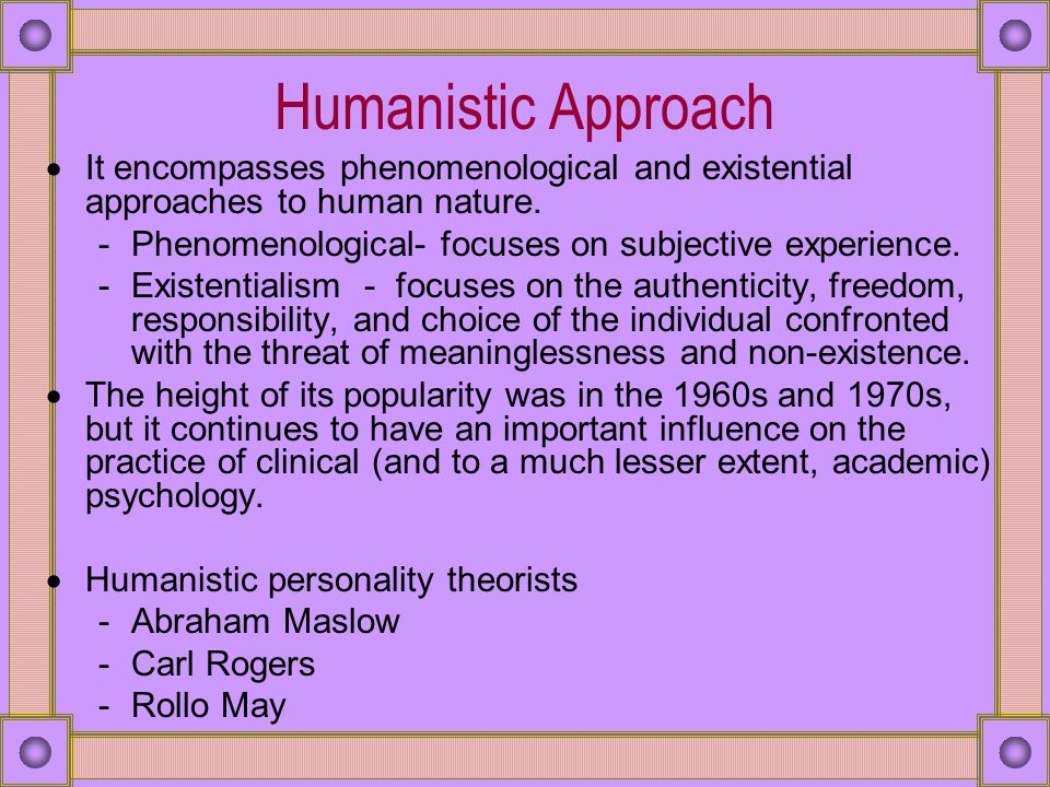 similarities and differences between psychodynamic and humanistic approaches in counseling Humanistic therapy overlaps considerably with existential approaches and  emphasizes the growth and fulfillment of the self  cognitive behavioral therapy  is similar to humanistic therapy in that both are here-and-now approaches   where they differ is that cbt is more structured and focused, and the therapist is  more.