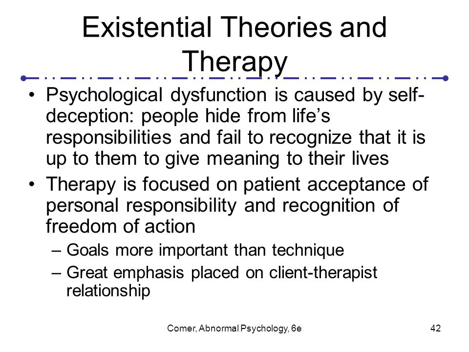 major abnormal behavior theories of psychology Transcript of 4 major theories in psychology  these urges become repressed and try to break free from the unconscious mind thus creating abnormal behavior.