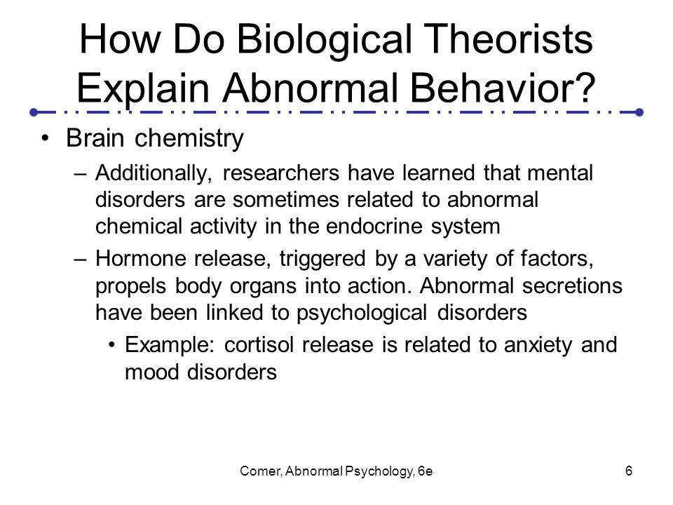 Perspectives on Abnormal Behavior