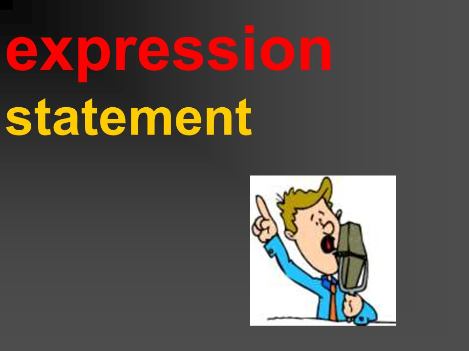 expression statement