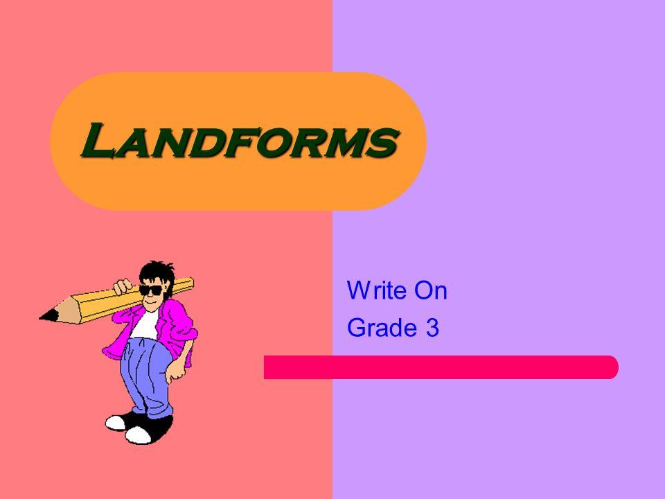 Landforms Write On Grade 3