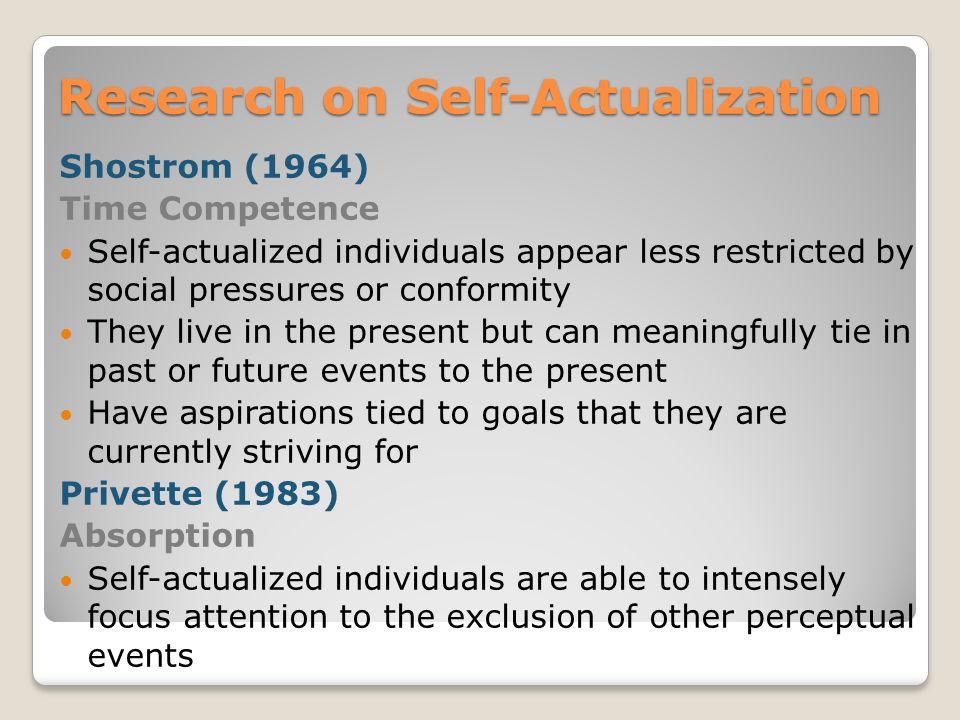 speech on self actualization