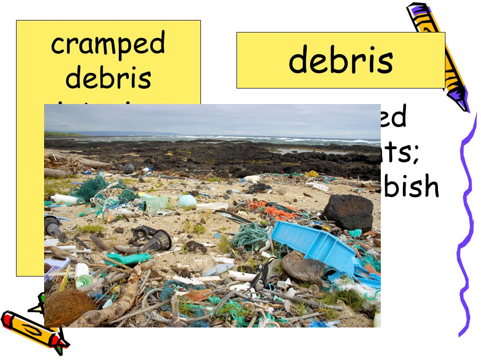 Scattered fragments; ruins; rubbish