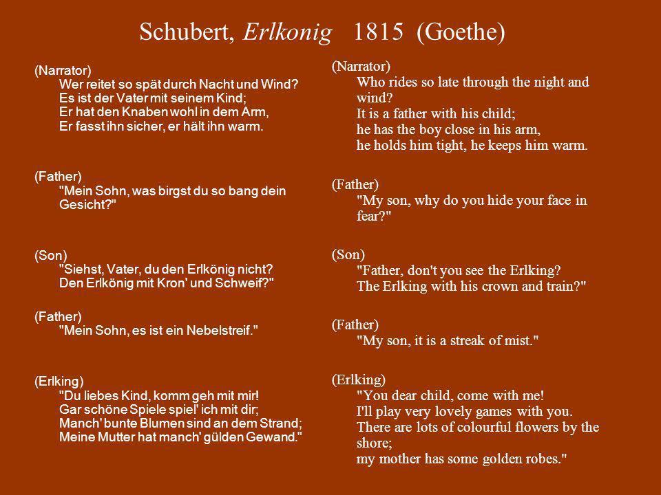 Schubert, Erlkonig 1815 (Goethe)