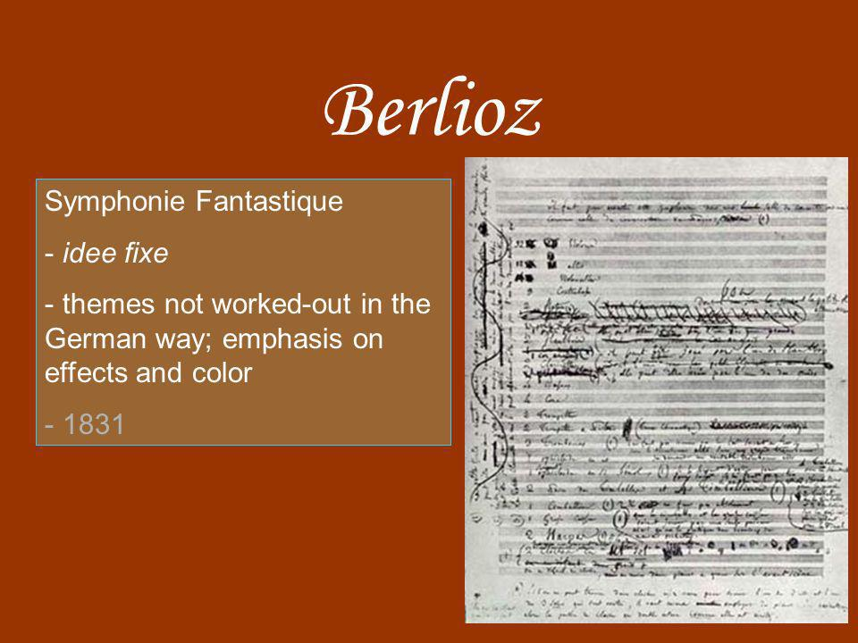 Berlioz Symphonie Fantastique idee fixe