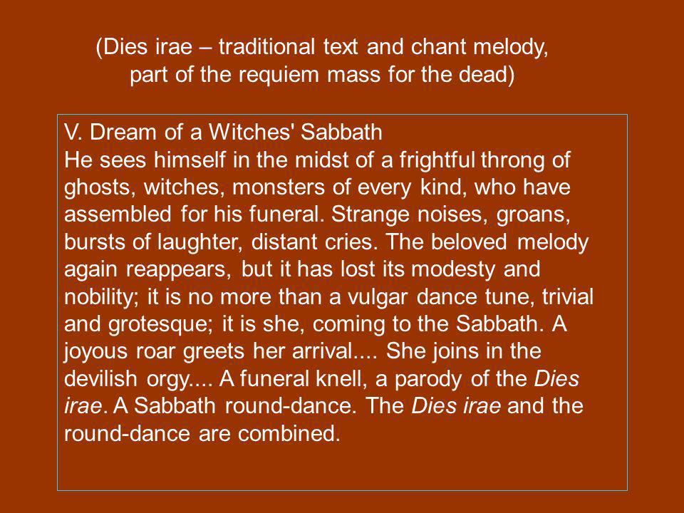 (Dies irae – traditional text and chant melody, part of the requiem mass for the dead)