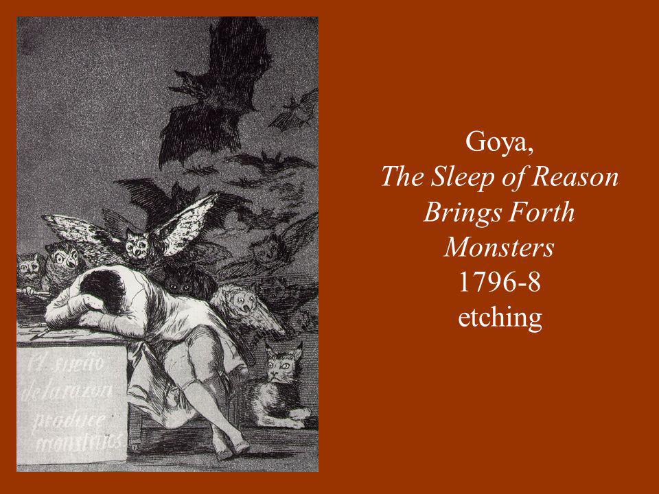 Goya, The Sleep of Reason Brings Forth Monsters etching