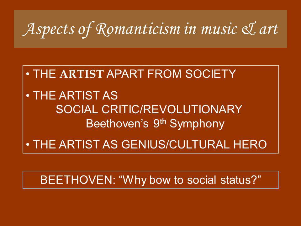 Aspects of Romanticism in music & art