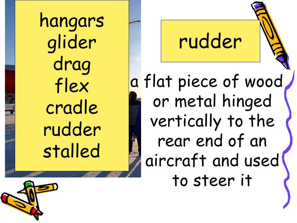 rudder hangars glider drag flex cradle rudder stalled