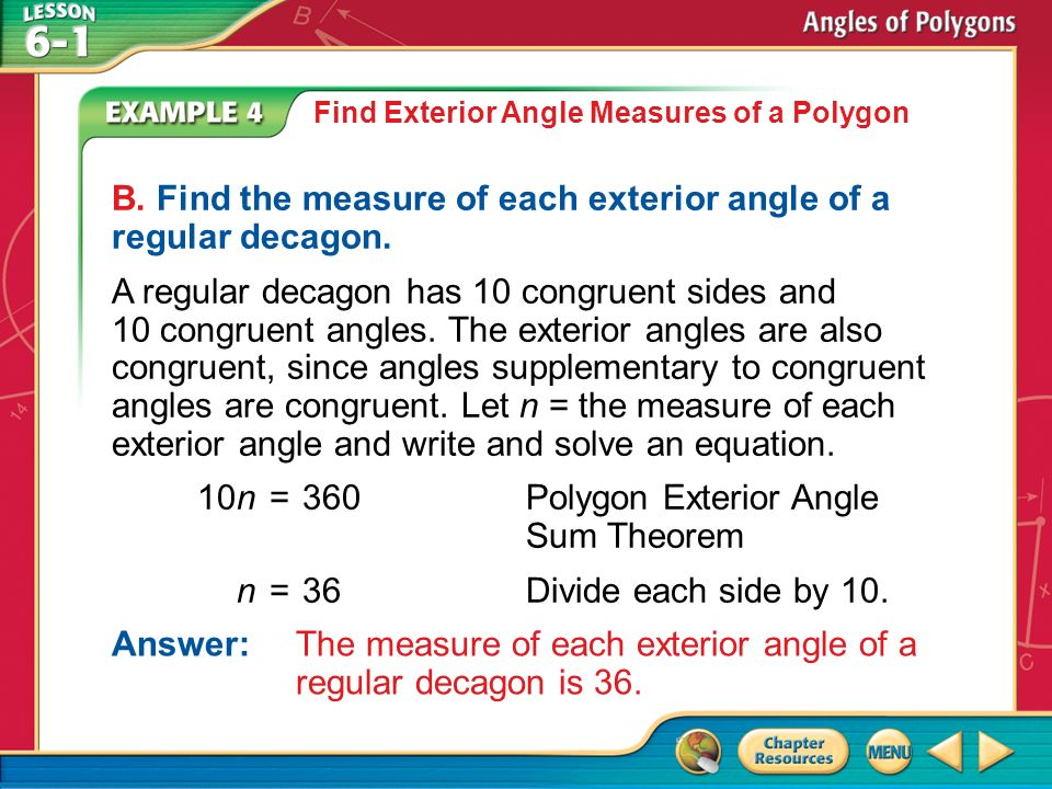 Concept 1 Answer The Sum Of The Measures Is Find The Interior Angles Sum Of A Polygon A Find