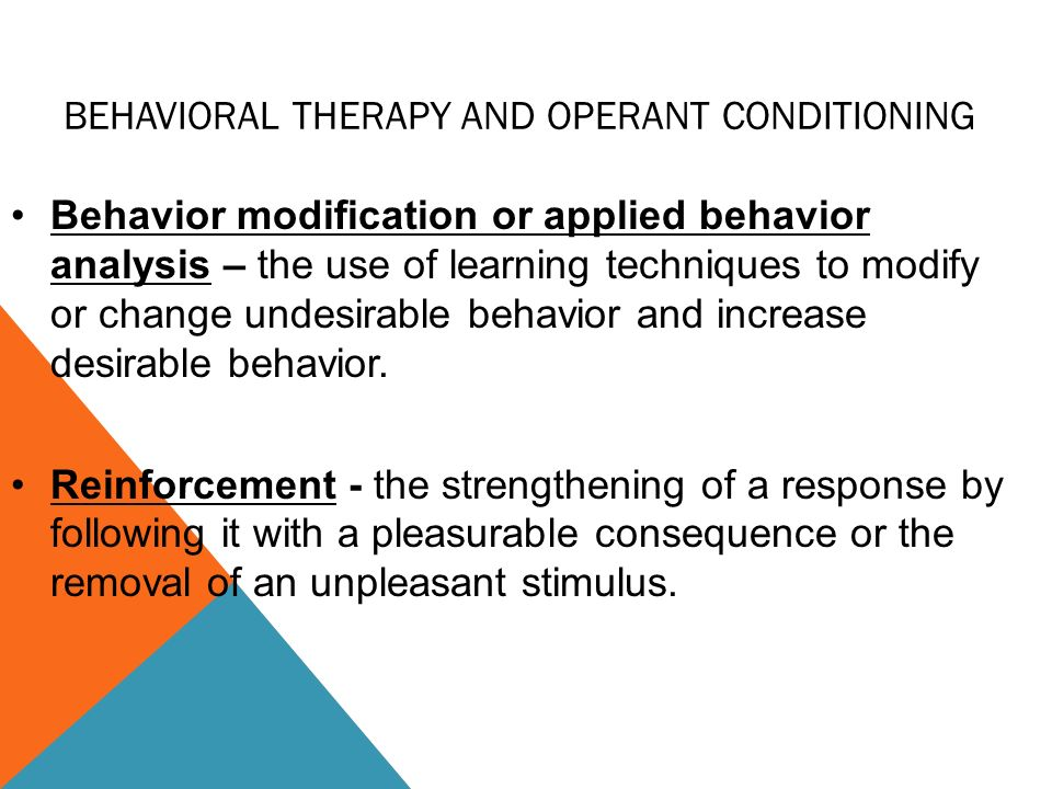 using operant conditioning to increase productivity Operant conditioning: strategies for changing behavior pg 1  based on effect of sd to increase likelihood of behavior aasd sets the occasion for behavior.