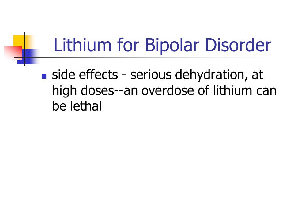 Lithium Side Effects Common
