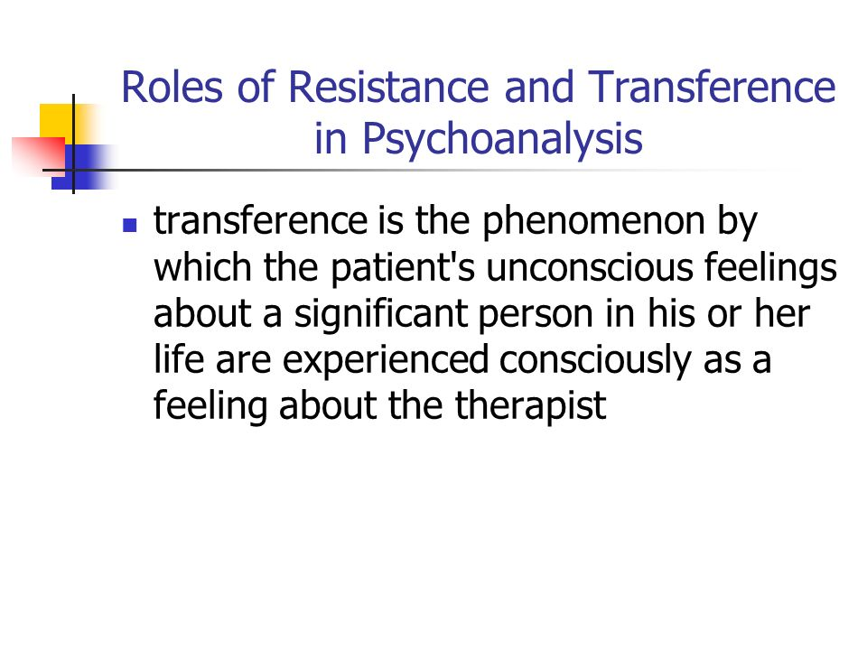 psychoanalysis and transference Transference is a key aspect of psychoanalysis identify and discuss any instances of transference during the client's interaction with dr donovan freud came to believe over the course of his life that transference is the key aspect of psychoanalysis (murdock, 2013) .