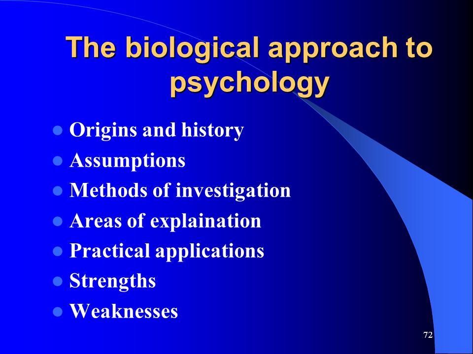 strengths and weaknesses of the biological As you offer an analysis of the strengths and limitations of the theories listed in explaining individuals' behaviors biological theory both theories have strengths and weaknesses, but with the.