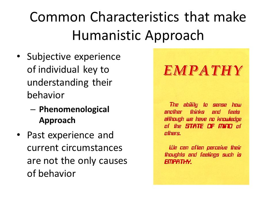 behavioral and humanistic theory Humanistic psychology views humans as holistic individuals capable of determining their own behaviors and goals read on to find out about the.