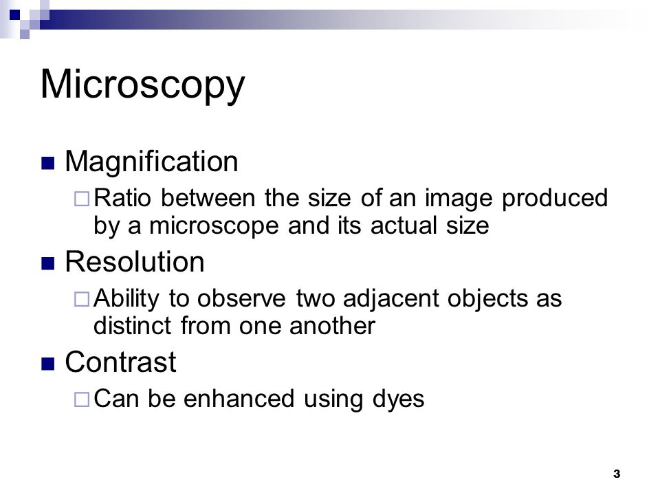 Microscopy Magnification Resolution Contrast