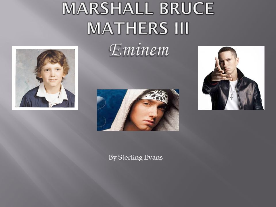 Marshall bruce mathers jr