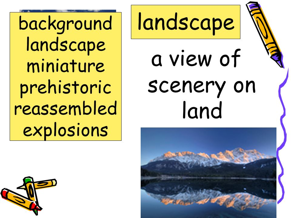 a view of scenery on land