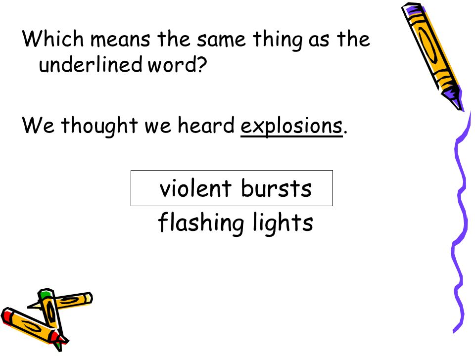 violent bursts flashing lights
