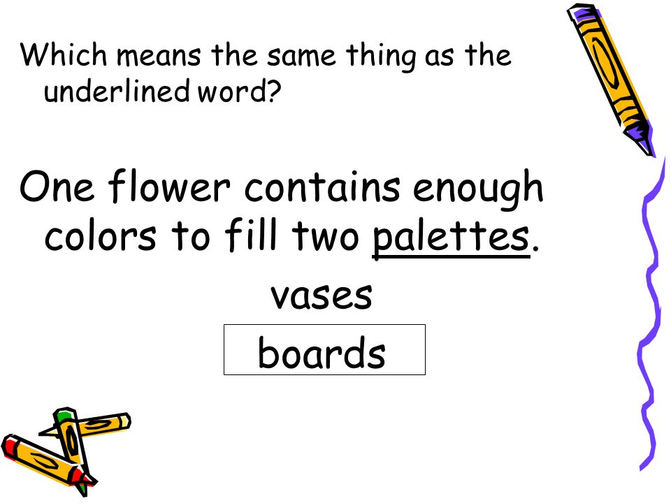One flower contains enough colors to fill two palettes. vases boards