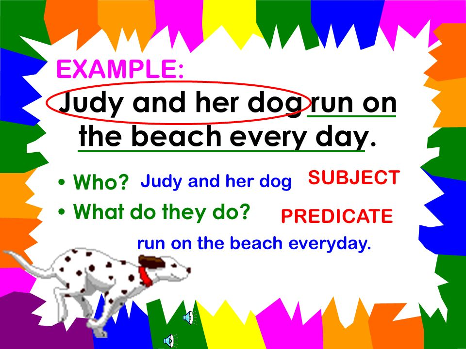 Judy and her dog run on the beach every day.