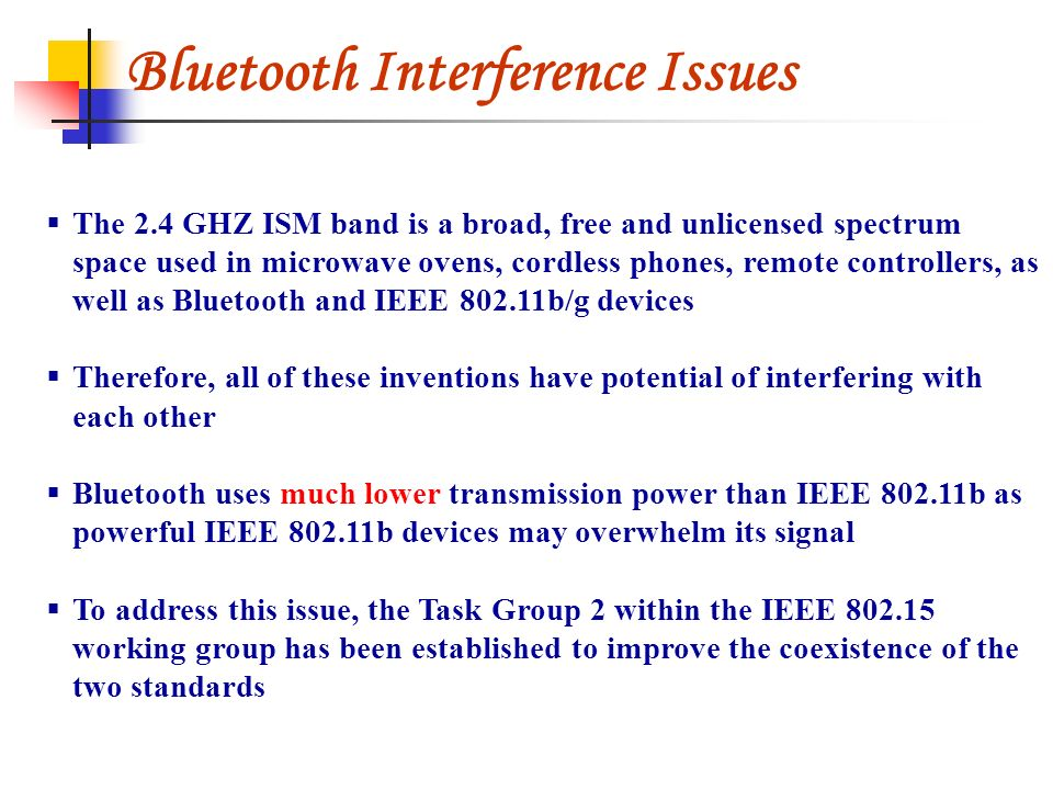 Bluetooth Interference Issues