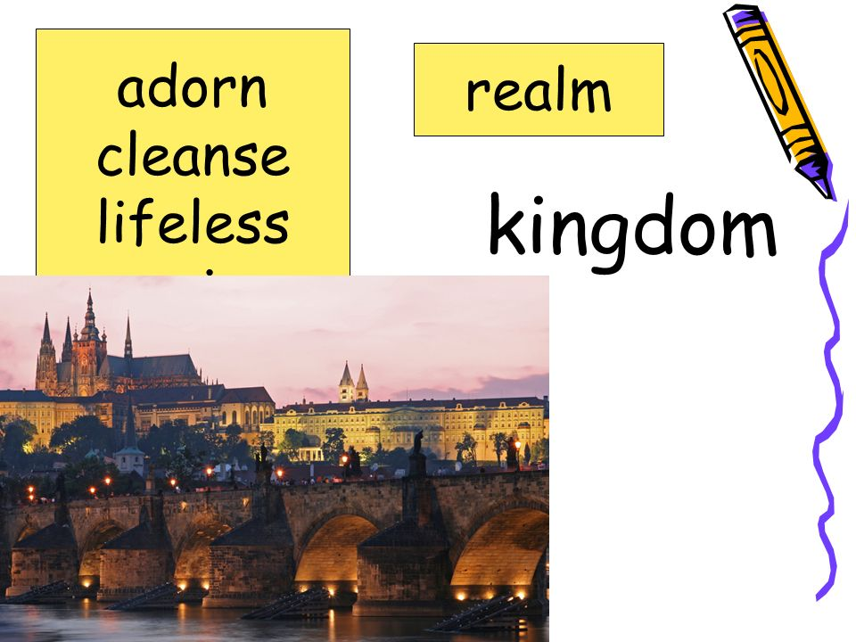 adorn cleanse lifeless precious realm spoonful realm kingdom