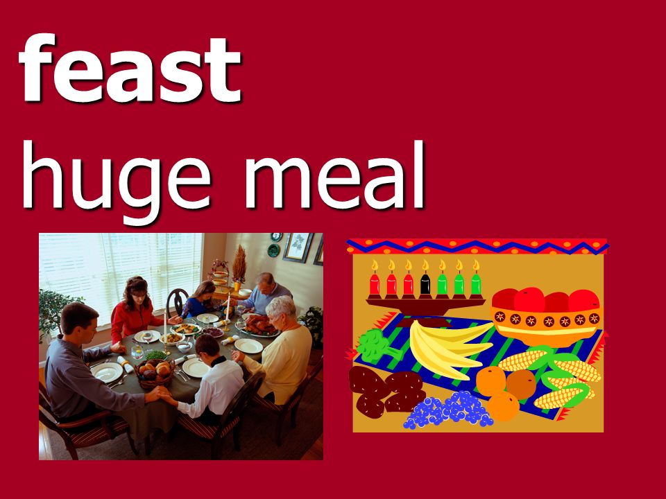 feast huge meal