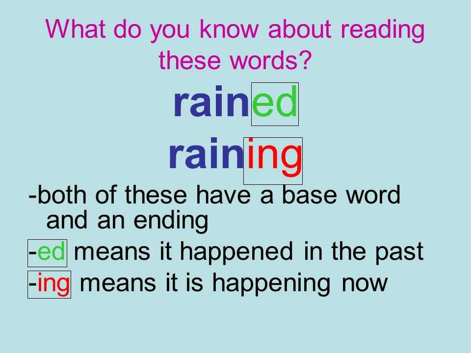 What do you know about reading these words