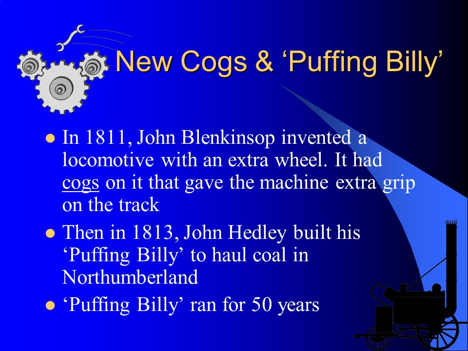 New Cogs & 'Puffing Billy'