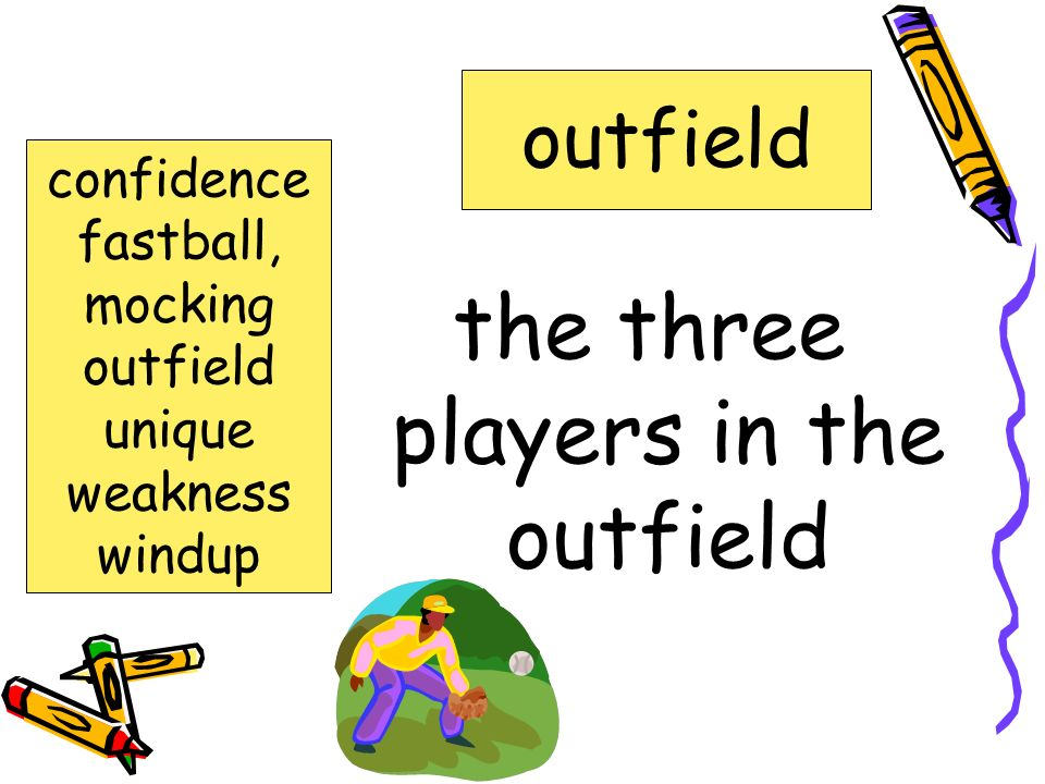 the three players in the outfield