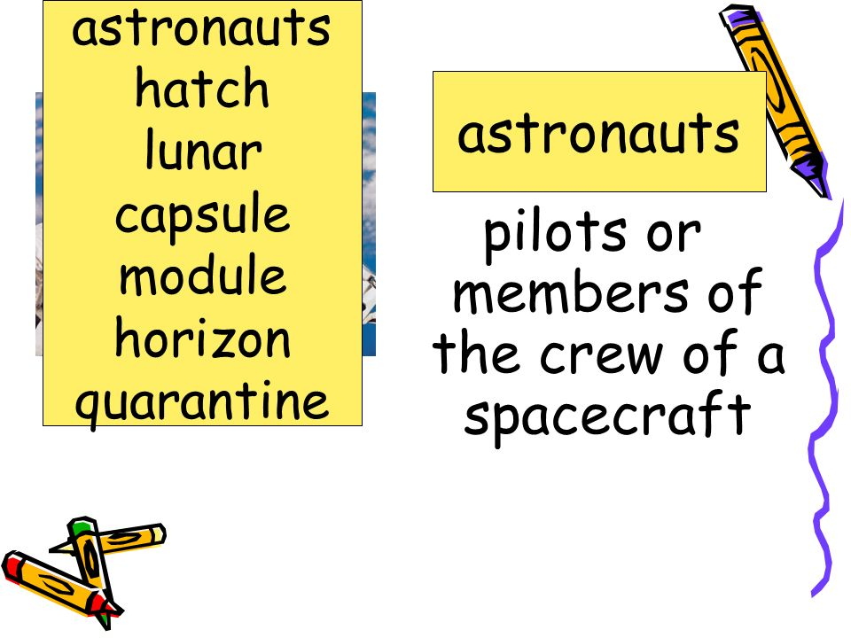 pilots or members of the crew of a spacecraft