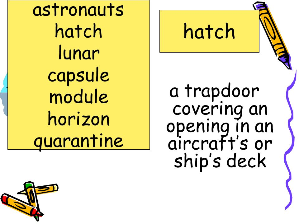 a trapdoor covering an opening in an aircraft's or ship's deck