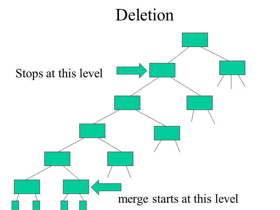 Deletion Stops at this level merge starts at this level