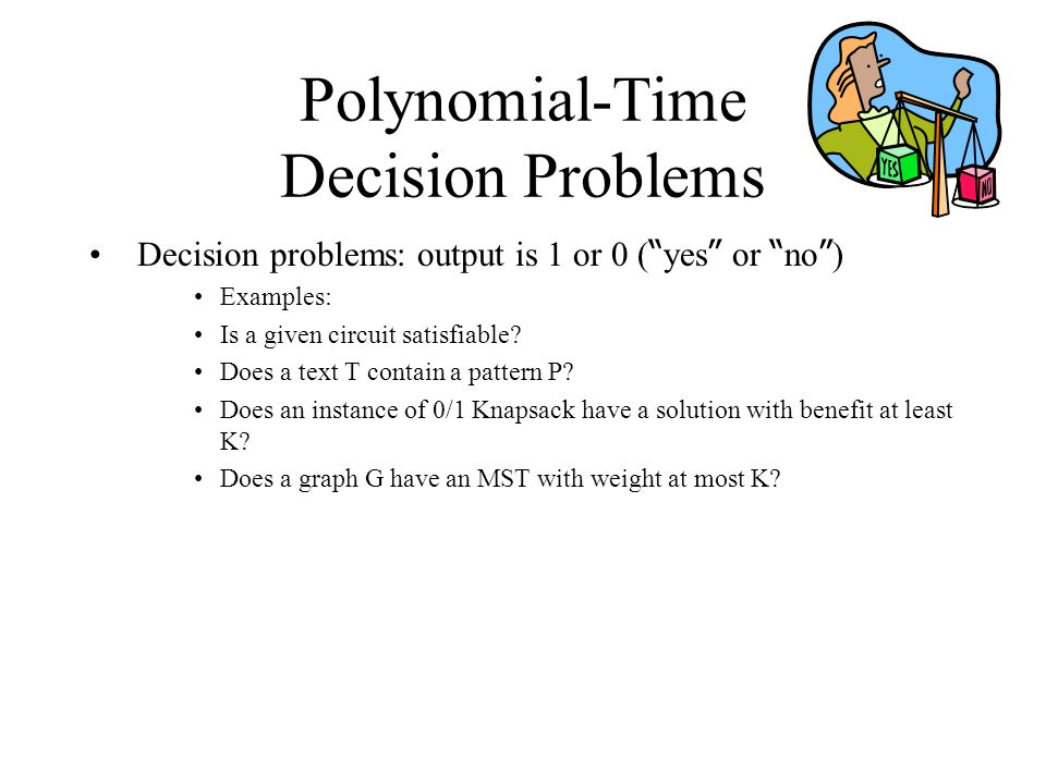 Polynomial-Time Decision Problems